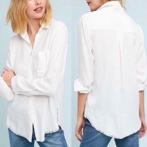 Cloth & Stone Anthropologie White Casual Shirt S